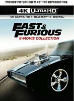 Fast & Furious: 8-Movie Collection [New 4K UHD Blu-ray] With Blu-Ray,