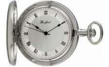Woodford Polished Chrome Plated Full Hunter Mechanical Pocket Watch