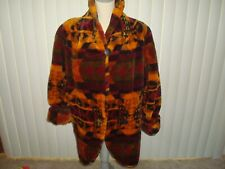 Vintage Dona Lucci Faux Fur Coat Size Small Aztec Styling