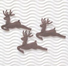 "US SELLER - 80 pcs x 1.75"" Padded Felt Santa's Deer Appliques/Christmas ST168N"