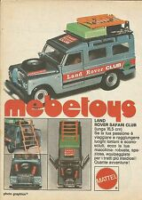 X9237 Land Rover Safari Club Mebetoys - Pubblicità 1977 - Advertising