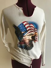 Harley Davidson long sleeve top t- shirt juniors S cream eagle Colorado Springs