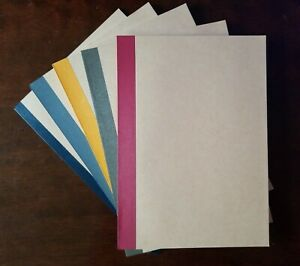 Muji B5 Set of 5 Notebooks Recycled Paper Ruled 6mm 30 Sheets 5 Color Binding