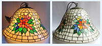 LARGE Tiffany Style Stained Glass Hanging Ceiling Pendant Light Lamp Shade 1of4