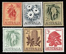 1959-64 AUSTRALIAN NATIVE FLOWERS PRE-DECIMAL STAMP SET - FRESH MUH