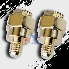 2pcs New GOLD Plated Short Side Post Mount GM Battery Terminal Tap High Quality
