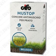 Concime Fertilizzante Antimuschio per prato 1Kg Cifo Mustop con Ferro e Zinco