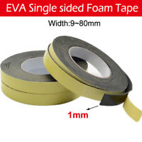 10M Black Strong Single Sided EVA Foam Tape Self Adhesive Buffer Shockproof Tape