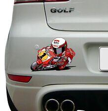 Eddie Lawson (1) cartoon image Racing Super Bike Sticker Race Decal motoGP