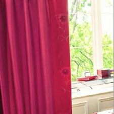 "Red Poppy Bedroom Curtains 66"" x 72"" (167 X 182 cm) inc Matching Tie-backs"