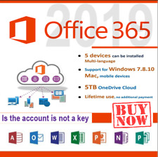 Microsoft Office 365 2020 Pro 5device  LIFETIME ACCOUNT New Account