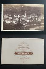 Richard, Suisse, panorama de Männedorf, Zürichsee Vintage albumen print CDV.
