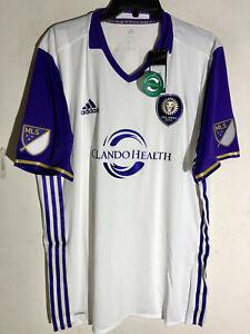 Adidas Authentic MLS Jersey Orlando City SC Team White sz 2XL