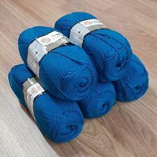 YarnArt Elite Double Knitting Yarn 5 x 100g, acrylic, peacock blue 843