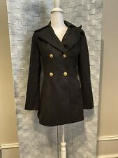 Guess Los Angeles Double Breasted Wool Blend Coat