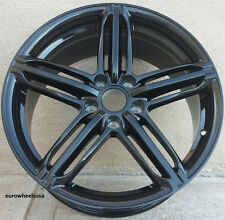 "18"" Black Wheels For Audi A4 (1997-2017) 18x8.0 +35 5x112 Rims Set (4)"