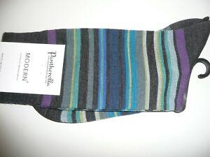 Pantherella Supersoft Merino Wool Stripe Socks. Quakers 89684. Same in Cotton.