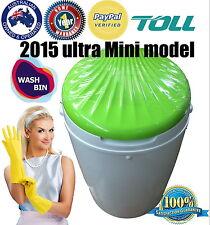 WASH BIN Portable MINI WASHING MACHINE W dryer for Caravan Camping ULTRA Mini