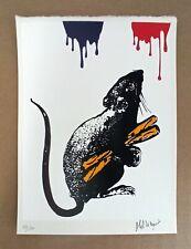 Blek Le Rat - Rat No.5 Limited Edition 6colour Screen Print Signed with COA