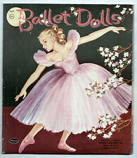 Vintage Whitman #1957 BALLET DOLLS paper dolls 1957 cut w/ Folder/Excellent!