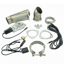 2.25 Inch Manual Electric Exhaust Cutout Catback Downpipe System E-Cut Valve Kit