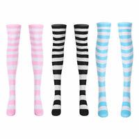 1 Paar Damen Overknee Strümpfe Streifen Lange Socken Mädchen Anime Kniestrümpfe