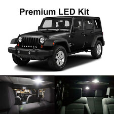 6 x White LED Interior Bulb+ License Plate Lights For 2007-2017 Jeep Wrangler JK