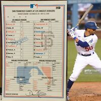 7/23/20 DODGERS 2020 OPENING DAY Clubhouse Lineup Card MOOKIE BETTS MLB COA WS🏆