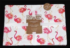 "4 Cynthia Rowley Fluffy Flamingos 13""x19"" Water Resistant Revrsble Placemats NIP"