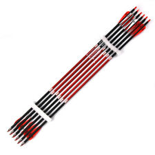 """X12 Carbon Arrows 30"""" 7.8mm Spine 500 Red Feather F Recurve Bow Archery Training"""