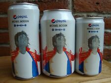 Michael Jackson PEPSI 3 EMPTY CANS DIFFERENT SIZE LIMITED EDITION 2018 MEXICO