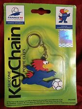 World Cup Football France 98 Mascot Keychain 1998 sealed Keyring 5cm