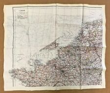"WW2 RAF REAL SILK ESCAPE MAP,"" BATTLE OF BRITAIN"".ENGLISH CHANNEL.EARLY ORIGINAL"