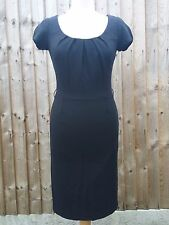 Hobbs Woman Dress Office Business Smart S UK 8 10 Fitted Suit Little Black