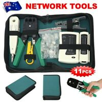 Network Cable Tester RJ45 Crimper Ethernet LAN Kit Crimping Tool Set AU STOCK