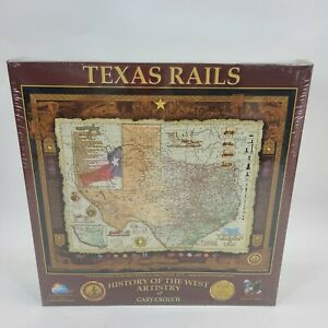 TEXAS RAILS Map Jigsaw Puzzle HISTORY OF THE WEST Gary Crouch ~ SEALED