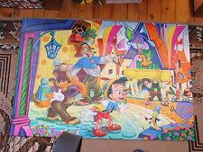 Pinocchio Puzzle Disney Large Big 100 cm 40 pcs Clementoni cat fox used rare
