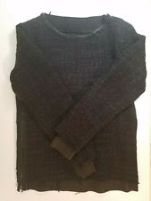 Isamu Katayama Sweater with Leather Trim. New. Made in Japan.