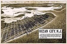 OCEAN CITY New Jersey MAP circa 1903 Vintage Reprint Poster Print JERSEY SHORE
