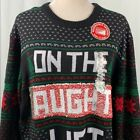 Reversible Sequins Naughty Nice List Holiday Ugly Christmas Sweater NEW