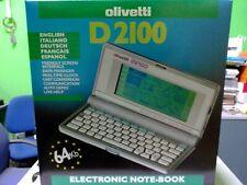 OLIVETTI D2100 AGENDA ELETTRONICA CALCOLATRICE SVEGLIA TRADUTTORE 5 LINGUE 64 KB