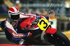 Freddie Spencer Hand Signed Honda 18x12 Photo MotoGP 1.