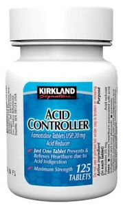 Kirkland Signature Acid Controller Famotidine 125 Tablets 20 mg TRACKING NUMBER!