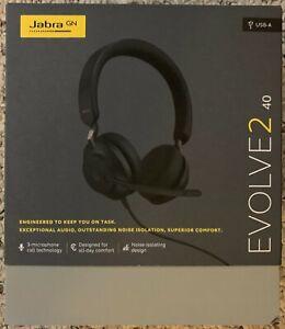 Jabra Evolve2 40 Stereo Headset (UC, USB-A) - Black
