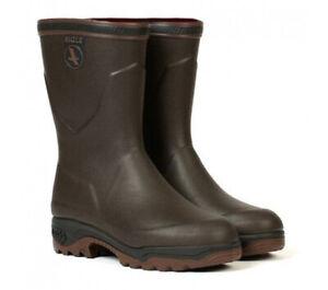 AIGLE Parcours 2 Bottillon Mens Rubber Boot (Mid) - Black & Bronze