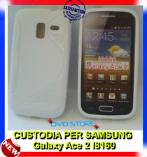 Pellicola + Custodia cover case WAVE BIANCA per Samsung Galaxy Ace 2 I8160