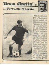 MA125-Clipping-Ritaglio 1970 Ferruccio Mazzola -Lazio