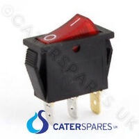 16A RED NEON ROCKER SWITCH ON OFF DOUBLE POLE 22MM X 31MM 4 TERMINALS 230V
