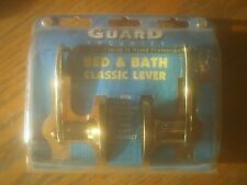 Guard Security Bed & Bath Classic Lever Brass Lockset