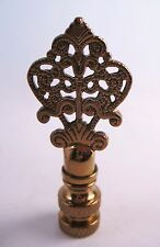 Lamp Finial Fancy Antiqued Brass Filigree Arrow (T627s)